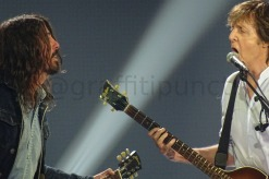 Paul McCartney and Dave Grohl at London's O2 Arena