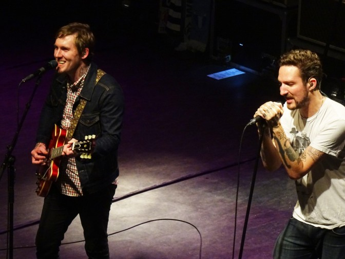 Frank Turner with Brian Fallon of The Gaslight Anthem at O2 Shepherd's Bush Empire