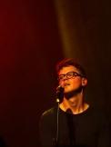 Ryan Lott of Son Lux performs at Village Underground, London