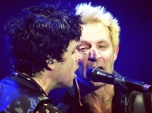 Billy Joe Armstrong and Mike Dirnt of Green Day at The O2 in London